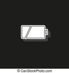 magt, illustration, batteri, symbol, -, tegn, el, vektor, lavtliggende, charging, energi
