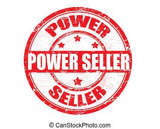 magt, sælger, frimærke