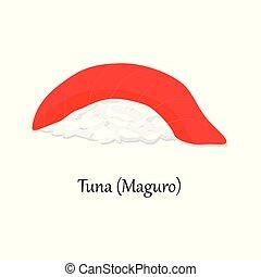Magura tuna sushi