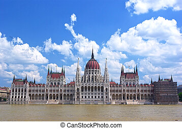 Magyar Parliament building - Parliament building and Danube...