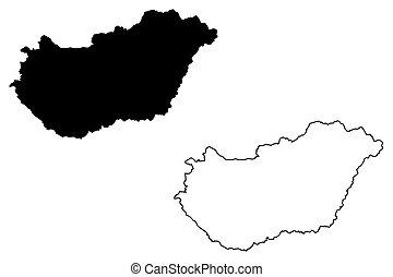 magyarország térkép rajz Magyarország térkép Illusztrációk és clip art. 2 572 Magyarország  magyarország térkép rajz