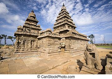 mahabalipuram, 海岸, -, インド, 寺院