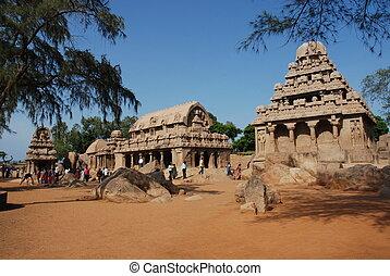 mahabalipuram, 5, rathas
