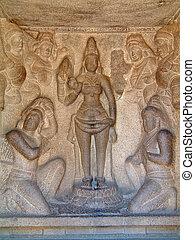 mahabalipuram, bass-relief, 寺院