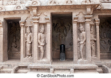 One of the ancient architectural wonders of the Pallava kings in south India