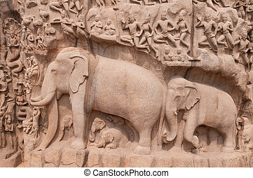 MAHABALIPURAM - One of the ancient architectural wonders of...