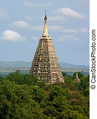 Mahabodhi Buddhist Temple tower, Bagan - Buddhist Mahabodhi...