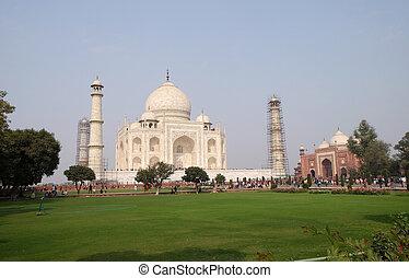 mahal, palaces), taj, agra, pradesh, (crown, uttar, インド