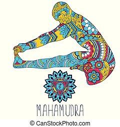 Mahamudra. Pose in yoga.