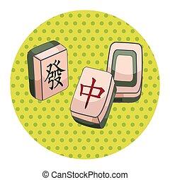 mahjong, tema, elementer