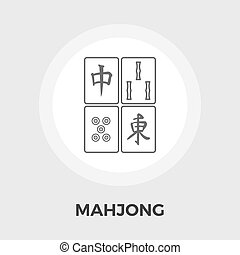 Mahjong vector flat icon