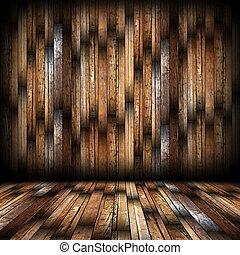 mahogany finish on interior backdrop
