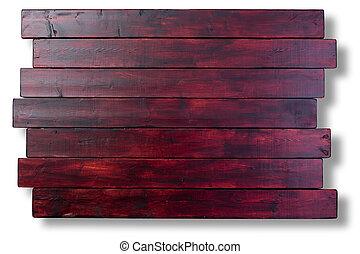 mahonie, bevlekte, staggered, hout logeert