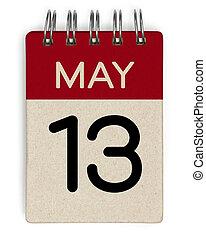 mai, 13, calendrier