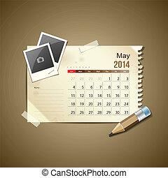 mai, 2014, calendrier
