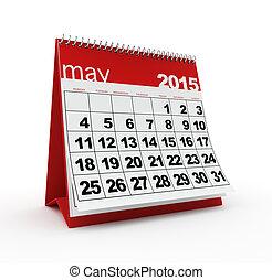 mai, 2015, calendrier