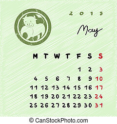 mai, 2015, zodiaque