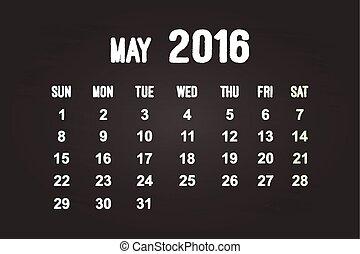 mai, 2016, mois