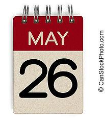 mai, 26, calendrier