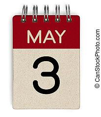 mai, 3, calendrier