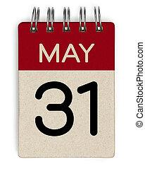 mai, 31, calendrier