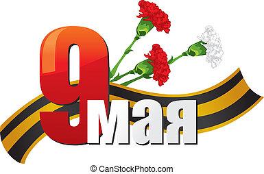 mai, 9, -, victoire, jour