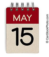 mai, calendrier, 15