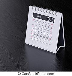 mai, calendrier, 2018