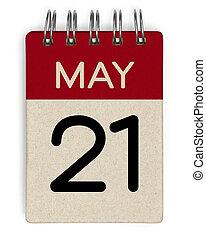 mai, calendrier, 21