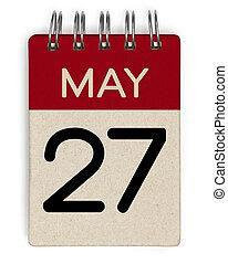 mai, calendrier, 27