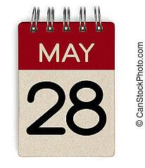 mai, calendrier, 28