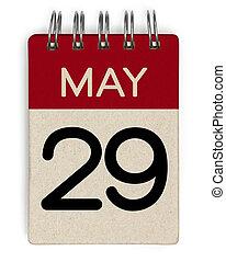 mai, calendrier, 29