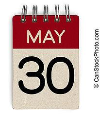 mai, calendrier, 30