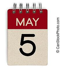 mai, calendrier, 5