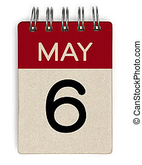 mai, calendrier, 6