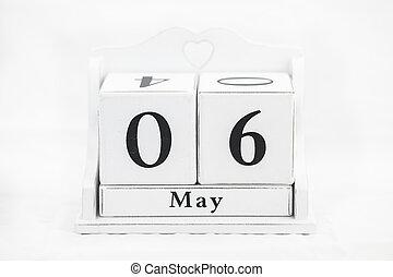 mai, calendrier, nombre