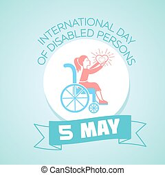 mai, handicapé, personnes, 5, international, jour