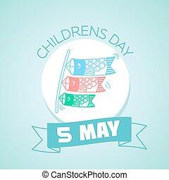 mai, japon, 5, childrens, jour