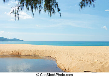 Mai Khao Beach. - Beautiful sea Mai Khao Beach at Phuket...