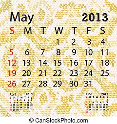 mai, serpent albinos, peau, calendrier, 2013