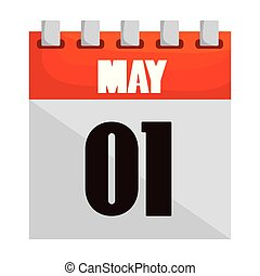 mai, une, icône, calendrier