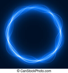 maic loop,energy ring - energy loop ring (blue colored,wide...