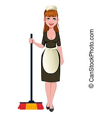 Maid, cleaning lady, cleaning woman