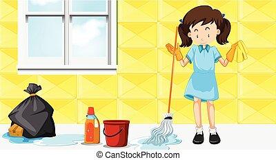 maid, het zuiveren huis