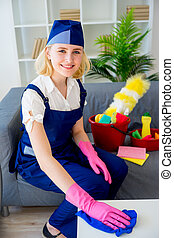 Maid of cleaning service