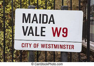 Maida Vale Street Sign in London