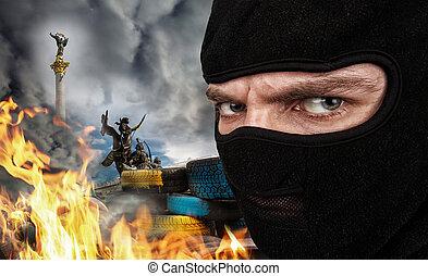 maidan, terrorist, ukrainisch