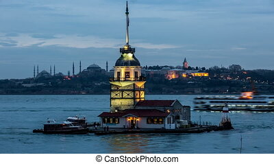 Maiden Tower at blue hours