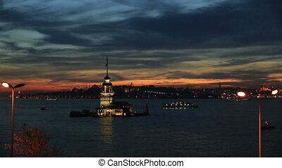 Maiden Tower at blue time