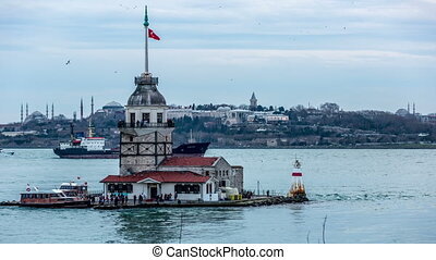 Maiden Tower at cloudy day
